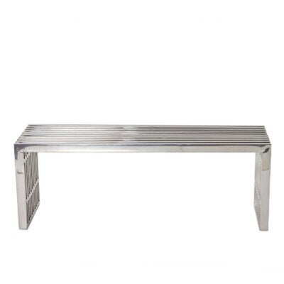 Stella Stainless Steel Bench Large Silver
