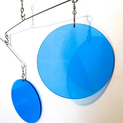 Mobile Cantilevered Circles: Clear Blue