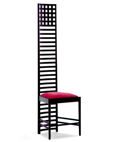 "Hill House 1 Chair by Charles Rennie Mackintosh for Cassina 1973 H 95"" x W 28.5"" D 25"""