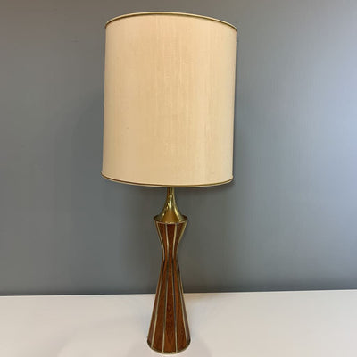 Vintage Laurel Brass and Walnut Table Lamp