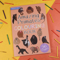 Coloring Book- Amazing Primates