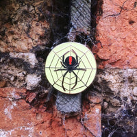 GLOW IN THE DARK REDBACK SPIDER PIN