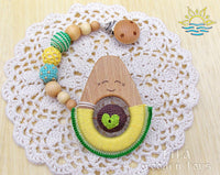 Avocado Teether with the Clip