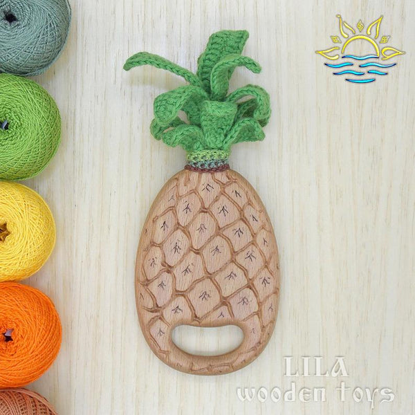 Pineapple Wooden Teether
