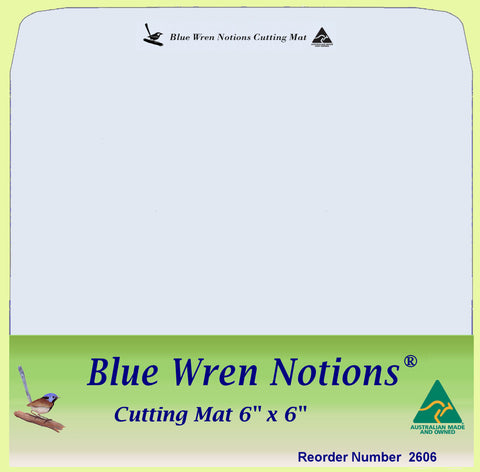 "Blue Wren Cutting Mat 6"" x 6"" (2606)"