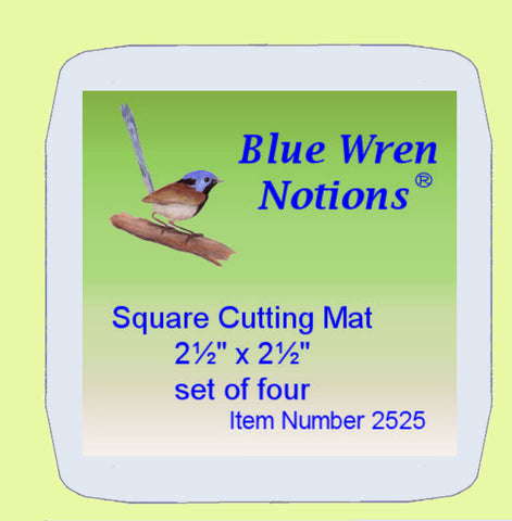 "Blue Wren Cutting Mat Set of four.... 2.5"" x 2.5"" (2525)"