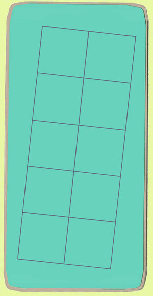 "Squares 2"" cut, 1½"" finished x 10 - 6002 - Blue Wren Cutting Die, Mat included"
