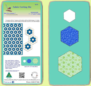 "Hexagons 1"", 1 1/2"", 2"" sides - Combo - 6016 - includes cutting mat"