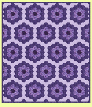 "Hexagons 2½"" & 3"" Cut Sides combo - 6017 with mat"
