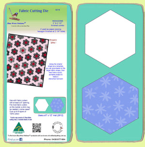 "Hexagons 2"" & 2 1/2"" Sides finished combo - 6018 with mat"