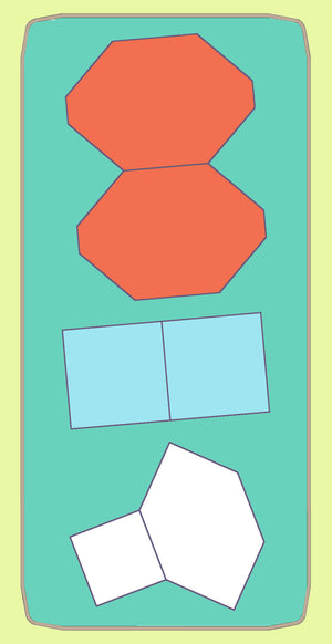 "Hexagons, 90 degree 1½"" sides (POTC) with 1½"" squares, - 6073 - includes cutting mat"