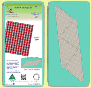 "Triangles, Quarter Square, 4"" finished block - 6048 - Mat Included"