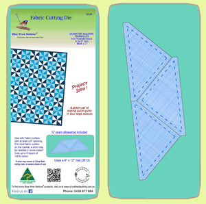 "Triangles, Quarter Square, 4½"" finished block - 6049 - Mat Included"