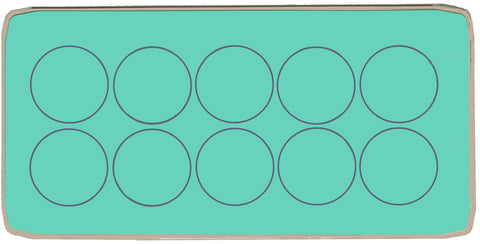 "Circles 2"" - Multi x 10  - 6062 - includes cutting mat"