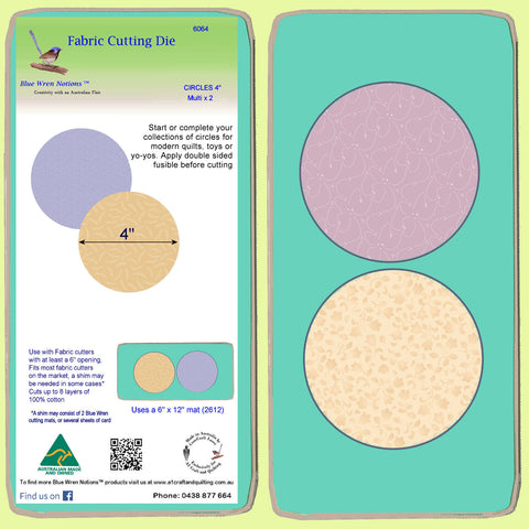 "Circles 4"" - Multi x 2, 6064 -  Mat Included"
