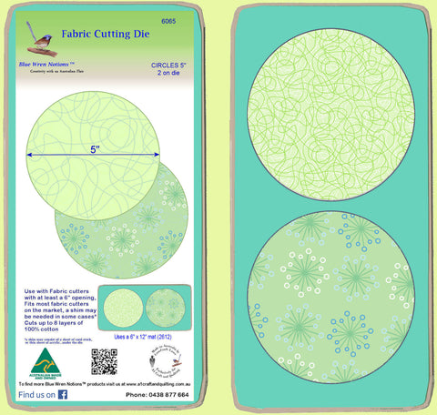 "Circle 5"" - Multi x 2  - 6065- includes cutting mat"