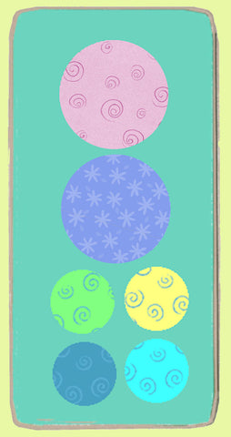 "Circles 2"" & 3"" Combo - Multi x 4 & 2 - Mat included- 6067"
