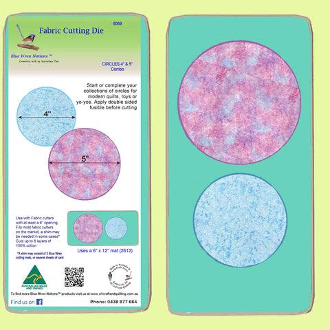 "Circles 4"" & 5"" Combo - 6069, mat included"
