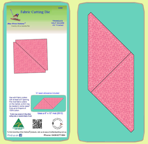 "Triangles, Half Square 5"" sides, 4½"" finished-  6088"