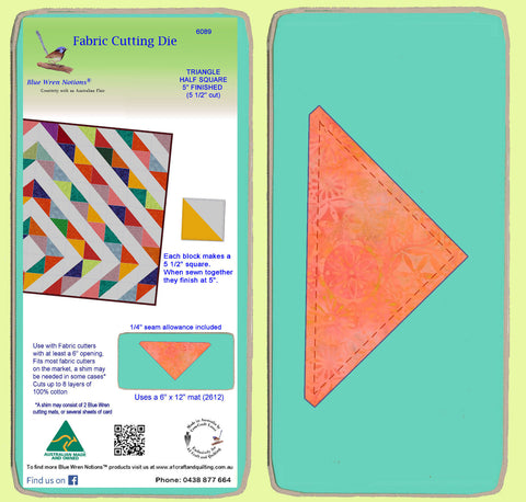 "Triangle, Half Square 5 1/2"" sides -  6089"