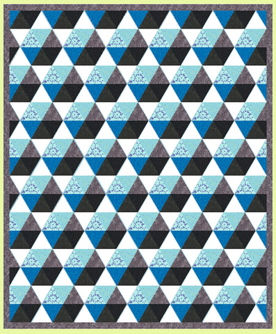 "Triangles, Equilateral  2 1/2"" finished (3"" cut) - Multi x 6 (6092)"