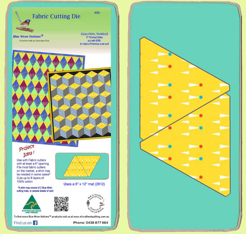 "Equilateral Triangle 5"" finished sides - 6095 - includes cutting mat"