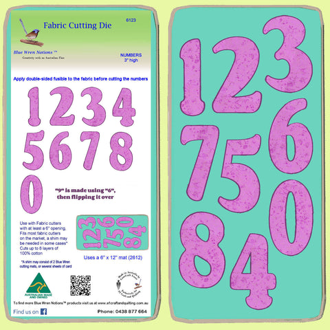 "Numbers - 3"" high - 6123 - Mat Included"