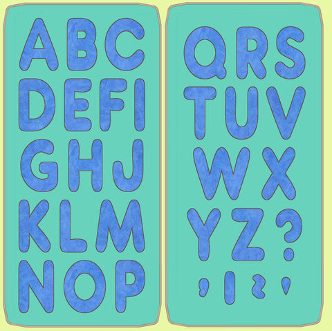 "Alphabet- UPPER CASE- set of 2 dies, 2"" high,  6125"