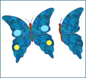 "Butterfly 10"" x 8"" approx, - 6133 - Mat Included"