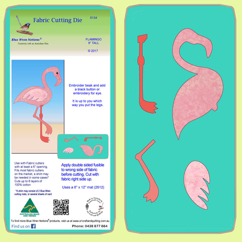 "Flamingo - 8"" tall - 6134 - Mat included"