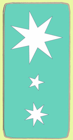 Australian Flag Stars x 3 sizes on die - 6146a - Mat Included