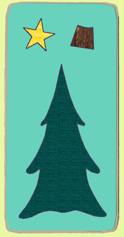 Christmas Tree #1- 6150 - Blue Wren Fabric Cutting Die, includes mat