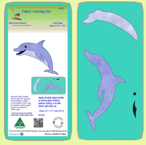 "Dolphin- Approx 7½"" x 3¾""- 6163 - Mat included"