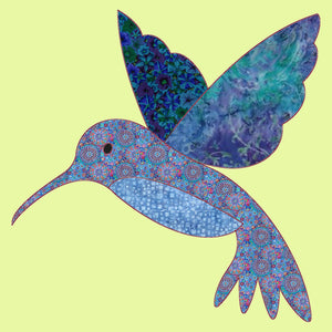 "Hummingbird - Approx 7½""H x 7½""W - 6164 - Mat included"