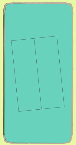"Rectangle 2""x 6¼"" cut, (1½""x 5 3/4"") finished - 6196 - mat included"