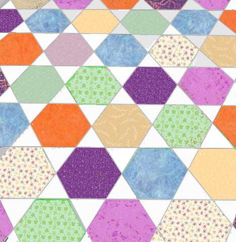 "Equilateral Triangles (6234) to match 1"",1½"",2"" and 2½ cut side Hexagons - includes cutting mat"