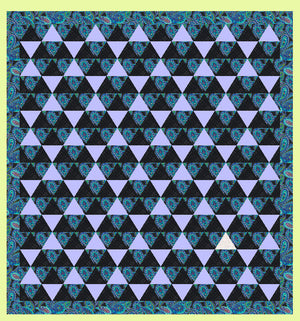 "Triangles, Equilateral 4½"" finished sides- Multi x 3 (6232)"