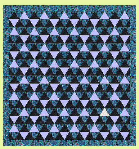 "Equilateral Triangles 4½"" finished sides- Multi x 3 (6232)"