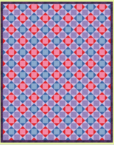 "Quarter Square triangles, 2½"" finished block - 6236a - Mat Included"