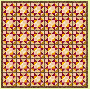 "Triangles, Quarter Square, 3"" finished block Alternate Layout - 6237b - Mat Included"