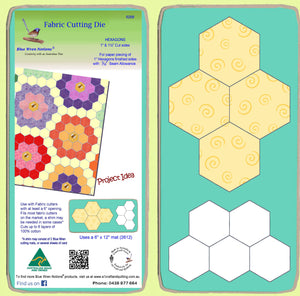 "Hexagons 1"" & 1½"" cut sides - for paper piecing, 1"" finished sides - 6268 - includes cutting mat"