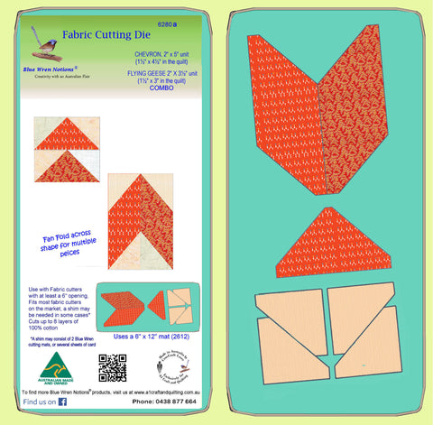 "Chevron 2"" x 5"" unit & Flying Geese 2 x 3½"" unit - 6280 - mat included"