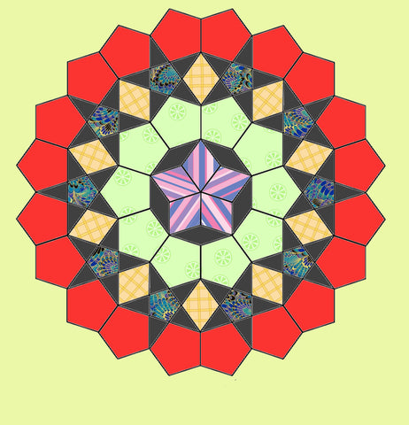 La Passacaglia Mandala Templates - Includes paper template dies - 6295, includes cutting mat