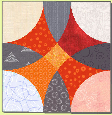 "Friendship Circles - 8"" finished block - 6301 - mat and cover included"