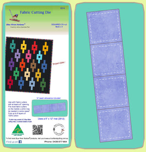 "Squares 2¾""cut x 4 - 6314 - Includes cutting mat 2612"