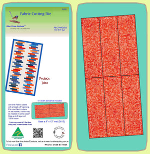 "Rectangle 1½"" x 5"" cut, (1""x 4½"") finished - Multi x 6 - 6320 - mat included"