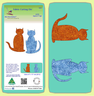 "Cats  - 5"" high- 6331 - Mat included"