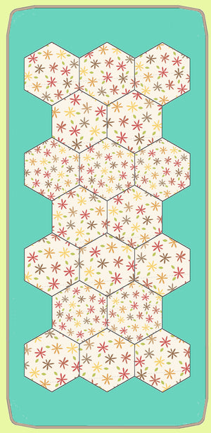 Hexagons 15/16th inch finished sides -  6341 - includes cutting mat