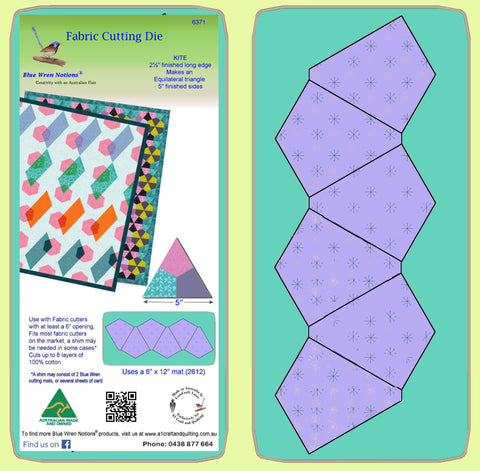 "Kite 2½"" finished long, makes equilateral triangles - 6371 - mat included"