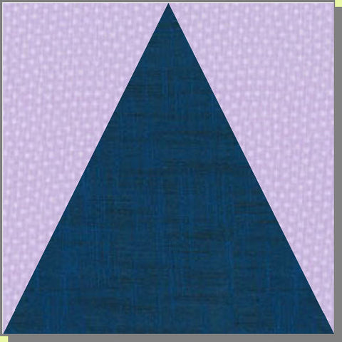 "Triangle in Square - 4"" x 4"" finished - 6390 - mat included"